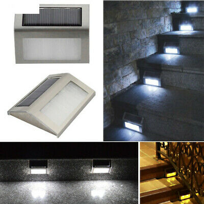Solar Power Outdoor Pathway Led Light Wall Home Garden Yard Lamp Staircase Chic