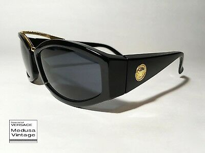 76c349202ce3 GIANNI VERSACE VINTAGE  90s ASYMMETRY WIRED SUNGLASSES MEN MEDUSA BLACK  FRAME