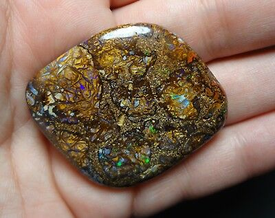 Lapidary: 77.8 Carat Natural, Polished Solid Boulder Opal From Koroit, QLD