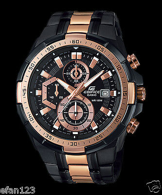 EFR-539BKG-1A Rose gold  Casio Edifice Men's Watches New Model 100M Steel Band