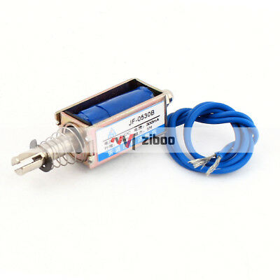 JF-0530B DC12V 10mm 5N Push Type Open Frame Actuator Solenoid Electromagnet.