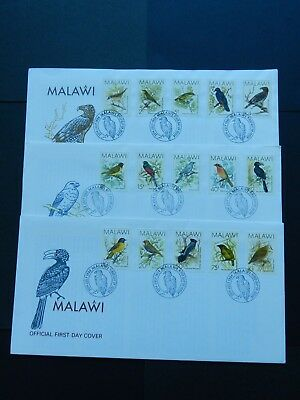Malawi First Day Covers  (3) 1988 Birds 15 stamps