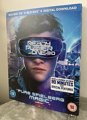 Ready Player One Blu-Ray 3D+2D +Digital ( 2 disc set) New Sealed
