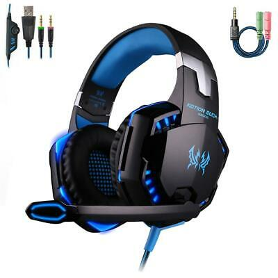 3,5 Mm Gaming Stereo Surround Headset Mic LED Kopfhörer Für PS3 PS4 Xbox One 360