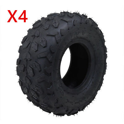 "4 PCS 145/70-6"" 6 Inch Tire/Tyre Tubeless For Go-Kart ATV Lawn Mini Bike Quad"