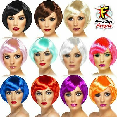 Womens Ladies Short Bob With Fringe Fancy Dress Cosplay Wigs Pop Party Costume