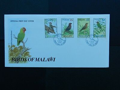 Malawi First Day Cover 1985 Birds  4 stamps