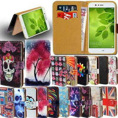 Leather Smart Stand Wallet Card Cover Case For Huawei Honor 6 7 8 9 SmartPhones