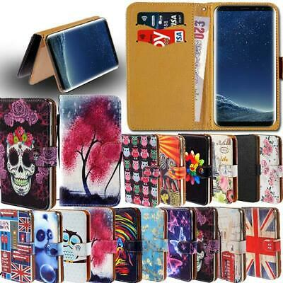 Leather Smart Stand Wallet Card Cover Case For Samsung Galaxy S6 S7 S8 Phones