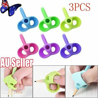 3XChildren Pencil Holder Pen Writing Aid Grip Posture Correction Device Tool NW
