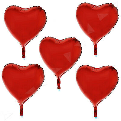 15X Red Heart Shape Helium Foil Balloon Wedding Engagement Birthday Party Decor