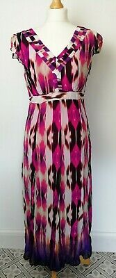 Per Una M/&S White Red Lilac Floral Pattern Crinkle Summer Sun Dress Size 8-22 A7