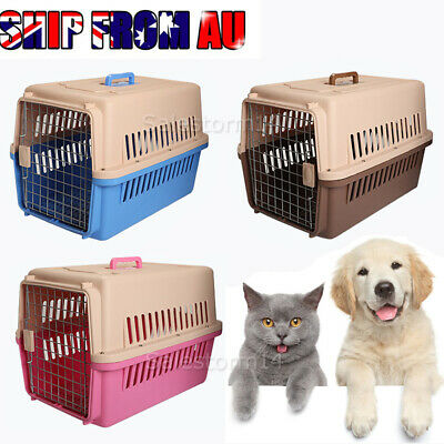 Pet Cat Dog Carrier Crate Airline Transporter Portable Travel House Cage Kennel