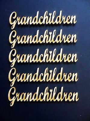 words Pack of 8 Grandchildren for family trees etc Wooden Laser Cut MDF