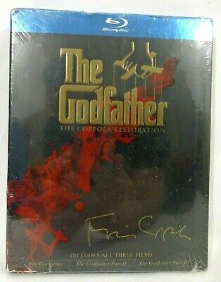 The Godfather Trilogy The Coppola Restoration All 3 Movies (Blu-Ray, 1972) New