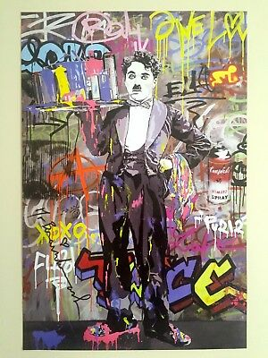 "Mr. Brainwash "" Charlie Chaplin "" Authentic Lithograph Print Pop Art Poster"