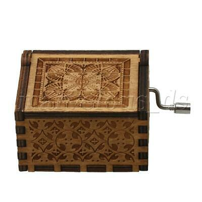 Musical Box Antique Carved Wooden Music Box Crafts for Holiday Gift Ideas