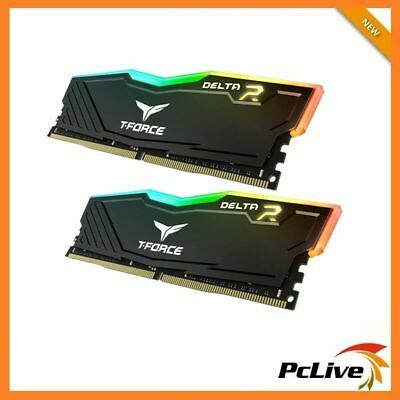 Team DELTA RGB 16GB DDR4 3000 Mhz Gaming Memory 2x 8GB RAM Desktop 24000 Black