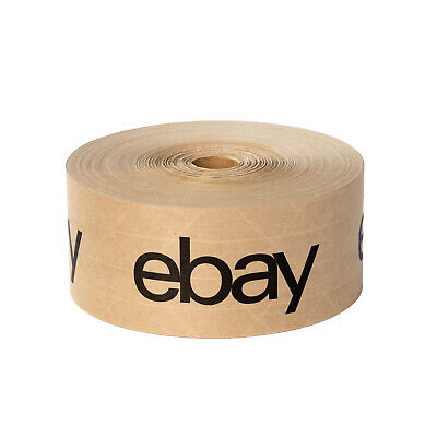 "eBay Branded Brown Water Tape w/Black Lettering 2.75"" x 166 Yards"