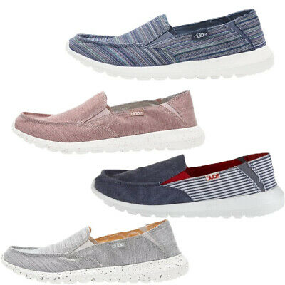 Womens Dude Shoes Ava Canvas Slip-on Mule lightweight Moccasin Loafer Boat Flats