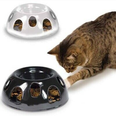 2 x SmartCat Tiger Diner Interactive Ceramic Slow Food Bowl White