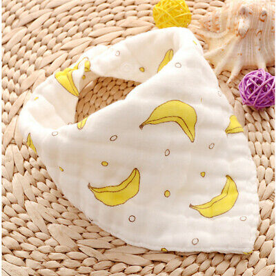 Newborn Baby Lovely Cotton Bibs Baby Saliva Towel Bandana Dribble Triangle ONE
