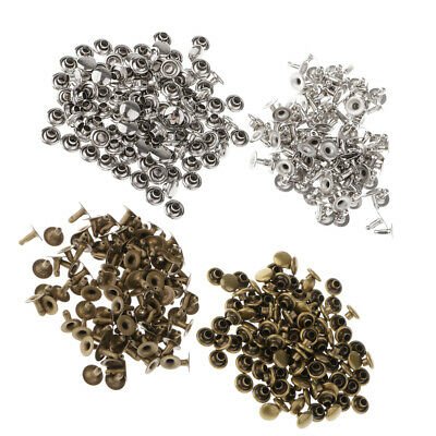 200 Pieces Metal Studs Fasteners Round Cap for Clothes Bags Caps Supplies