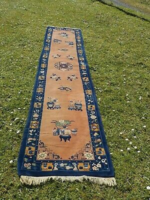 Tapis Chinois Galerie tisse a main 20eme siecle