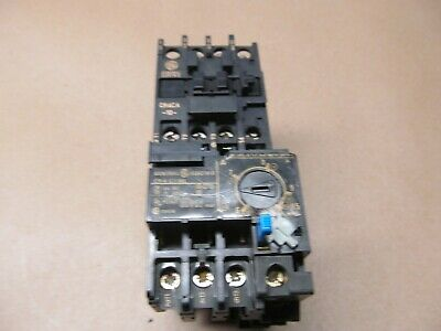 GE CR4CA-10 IEC Contactor 10 Amp with CR-4-G1TH 1.8-2.7 Amp Overload Relay