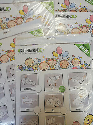 10 x WHOLESALE KIDS CREATIVE 3D CAT PET ANIMAL COLORING PACK BIRTHDAY PARTY TOYS