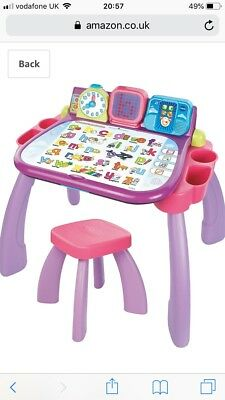 Vtech My Magic Desk 3 In 1 Play & Learn Activity Table DUTCH Pink/Purple Toy