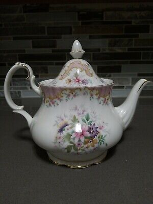 Royal Albert Serenity TEA POT England Pink Perfect