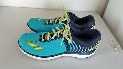 c5280378fe9 Brooks Pure Flow 6 Road Running Shoes Womens Size 8.5 Green Blue Lightweight