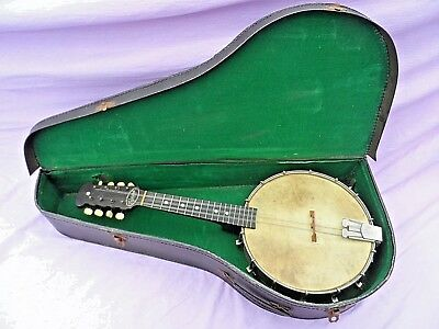 Vintage Savana Banjolin / Mandolin Banjo With Metal Head & Back Nice Condition