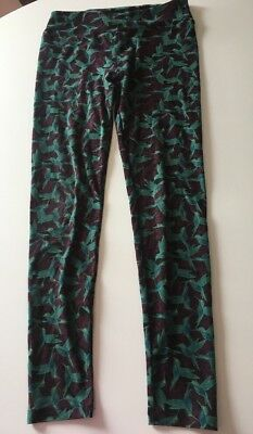 Womens LulaRoe Hummingbird Printed Polyester/Spandex Leggings - One Size