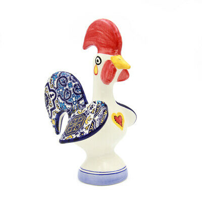 Hand-painted Decorative Traditional Ceramic Portuguese Good Luck Rooster