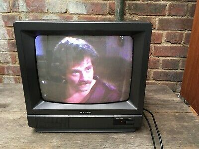 Vintage Alba CTV 744 TV 13' Inch Television Retro Gaming Charcoal/Black Monitor