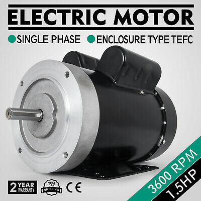 2 hp electric motor 1 phase 56C or 56  115//230 Volt 3600 rpm f56ch2s2c