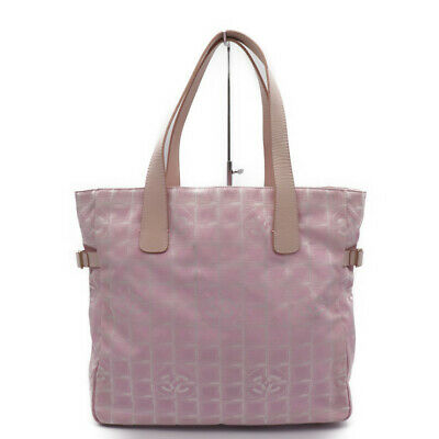 a2d874b718f0 Chanel New Travel Line Tote GM A 15825 Tote Back Jacquard Leather Pink