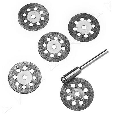 5pcs Diamond Cutting Wheel Blades Discs Saw Cut Off Intricate Rotary Tool 22mm
