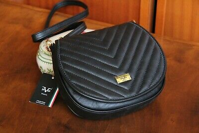 3dab3d73f10 VERSACE 19.69 Women's Black 100% Leather Shoulder Bag Free Shipping New  with Tag