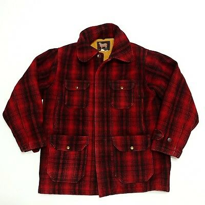 08aa267f0f691 Woolrich Mackinaw Plaid Hunting Coat Vintage Wool Jacket 1950s 60s Sport  Outdoor
