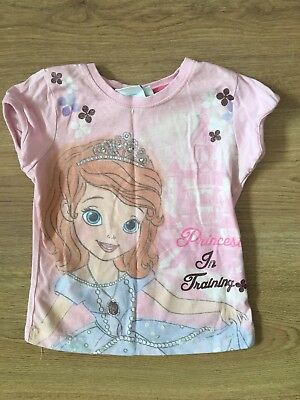 Disney Princess T-shirt Sophia The First 3-4 Years Girls Young Dimensions