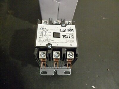 FASCO H340B DEFINITE PURPOSE CONTACTOR 3 pole 40 FLA 50 amp RES 120 volt coil