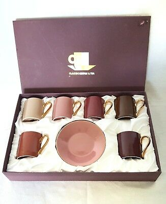 Classic Coffee And Tea Set Demitasse Coffee Cups And Saucers