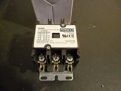 FASCO H330C DEFINITE PURPOSE CONTACTOR 3 pole 30 FLA 40 amp RES 208/240 VAC