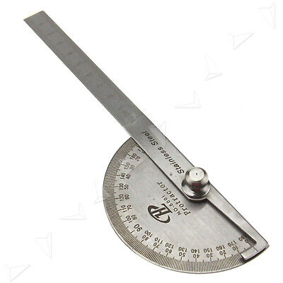 180° Angle Ruler Protractor Round Angle Finder Craftsman Ruler Machinist Tool