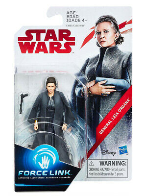 "Star Wars E8 Series Force Link General Leia Organa 3.75"" Figure Hasbro Toy"
