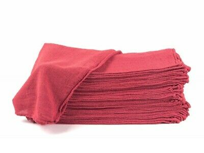"""2500 new great machinery shop rags towels red jumbo 14""""X14"""""""