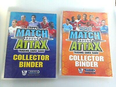 2 Topps Match Attax Trading Card Game Collector Complete Binders Full 2008 - 10